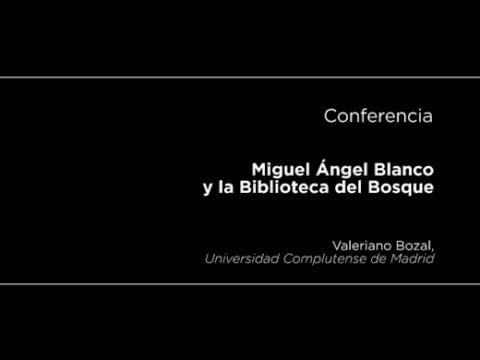 Conferencia de Valeriano Bozal sobre Miguel Ángel Blanco